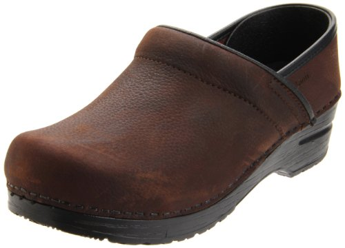 Sanita Men's Professional Textured Oil Clog, Antique Brown, 48 EU/14-14.5 M US