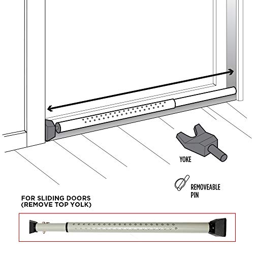 Guard Dog Security Door Jammer, Adjustable & Sliding Patio Door Security Bar - Lightweight by Guard Dog Security (Image #2)