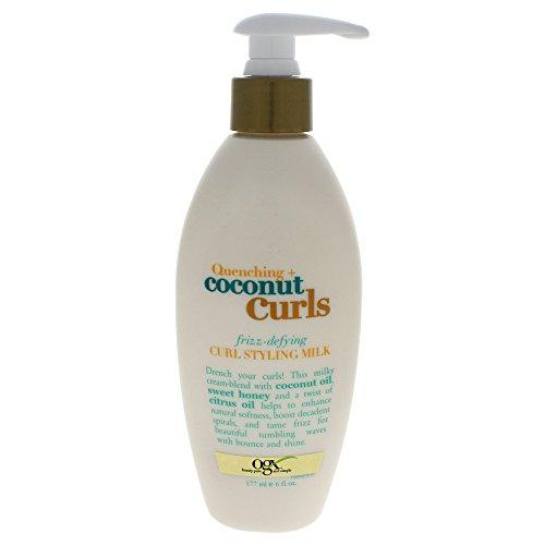 Organix Quenching Plus Coconut Curls Frizz-Defying Curl Styling Milk, 6 Fluid Ounce