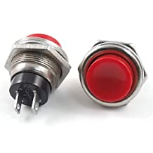 3 Pcs AC 125V 3A SPST Normal Open Momentary Push Button Switch Red