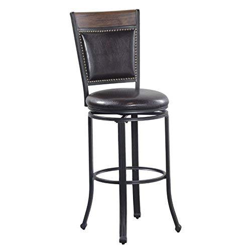Powell's Furniture 15D2020BSX Franklin Swivel Oak Wood Bar Stool