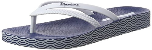Ipanema Bossa Soft Fem, Chanclas para Mujer Multicolor (Blue/White)