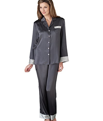 Julianna Rae Women's 100% Silk Pajamas, Classic Fit, Evening Lounge Collection, Evening, XL by Julianna Rae