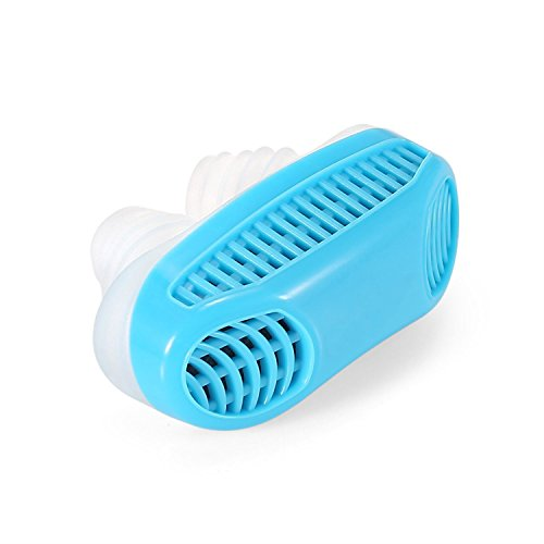 Stop Anti Snoring Devices, Snore Reduction Stopper Vents Maximize Airflow Airing Micro CPAP for Sleep Breath Aid, Silicone Relieve Nasal Congestion Nose Effective Ventilation by BOYON (blue)