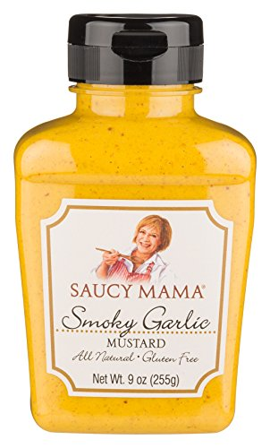Garlic Mustard (Saucy Mama Smoky Garlic Mustard, 9-Ounce (Pack of 6))
