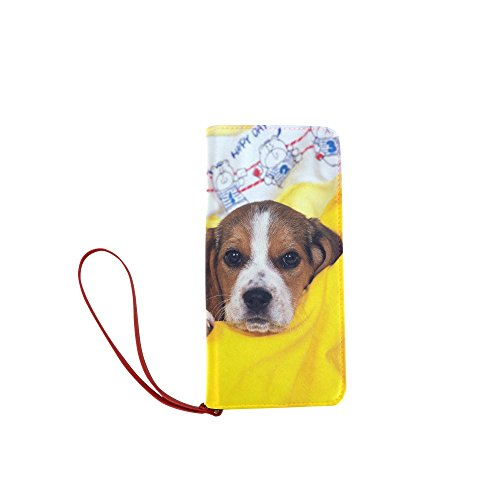 Women's Puppy Dog Pet Clutch Wallet Purse with Wrist Strap (Shampoo Gnc Puppy Pets)