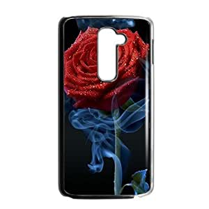 Smoky red rose lovely phone case for LG G2