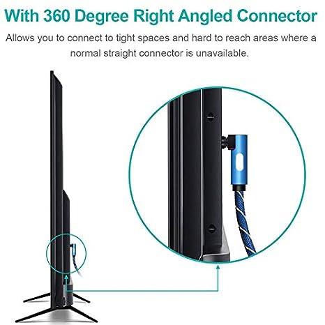feeilty Cable De Audio Audio Digital /Óptico Cable De 90 Grados De /Ángulo /Ópticos Cables Audio Adapter