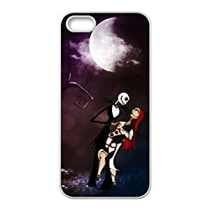 iPhone 5 5s White Cell Phone Case The Nightmare Before Christmas KVCZLW0931 Plastic Phone Case Cover For Guys
