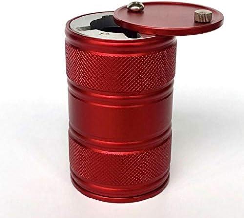 車の灰皿多機能回転カバーレッドメタル (Color : Red)