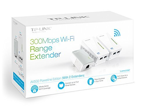 TP-Link N300  Powerline Gigabit Wi-Fi Kit , 3-Kit (N300) (Renewed)