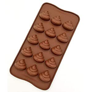 Cute Funny Poop Emoji Candy Molds, Chocolate Molds, Silicone Molds, Soap Molds, Silicone Baking Molds Smile stool Ice Cube