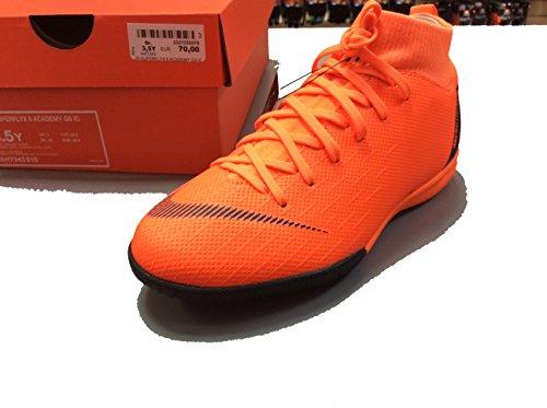 Nike Jr SUPERFLYX 6 Academy GS IC Größe 4Y Orange-Schwarz