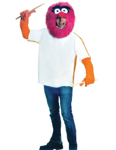 [The Muppets Animal Costume, Red, One Size] (Tv Character Costumes For Sale)