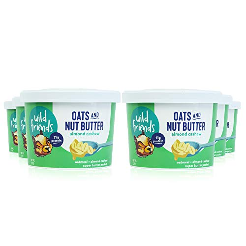 Wild Friends Oats and Almond Cashew Super Butter, 2.7 Ounce Cups (6 Count), Non GMO, High Protein