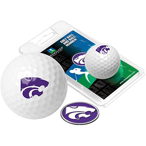 NCAA Kansas State Wildcats - Golf Ball One Pack with Marker