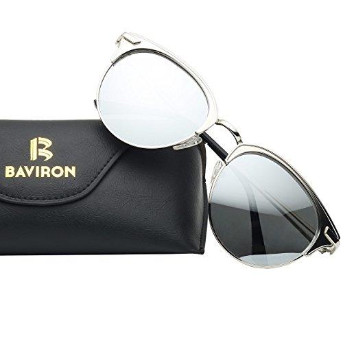 BAVIRON Womens Cateye Luxury Sunglasses Polarized UV400 Metal Frame Glasses - Can You Lenses Just Buy Glasses For
