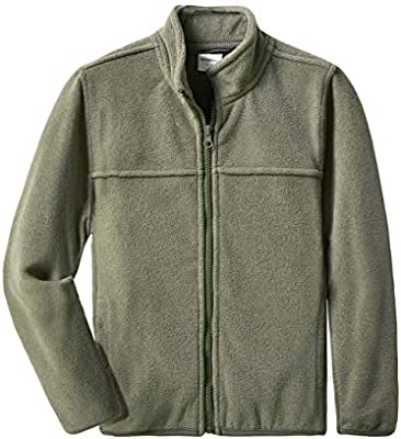 Youth Solid Full-Zip Polar Fleece Jacket for Children
