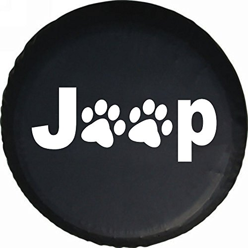 DKiigame Dog Cat Pet Lover Spare Tire Cover OEM Vinyl Black 32-33 in