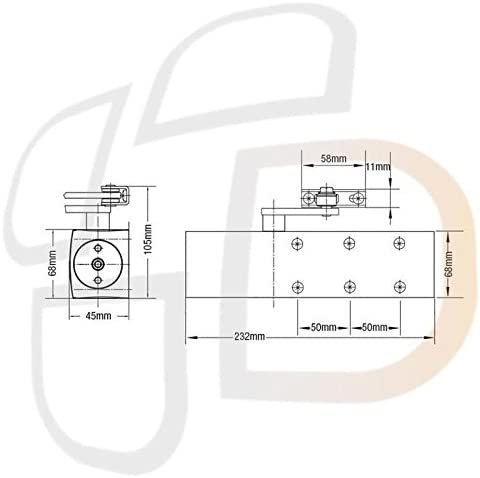 Dorma TS71 Size 3-4 Overhead Door Closer