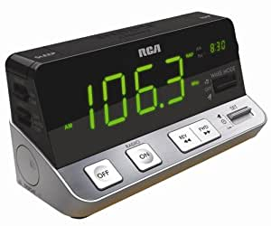RCA RPC100 AM/FM Clock Radio with Extra Large LED Display (Discontinued by Manufacturer)