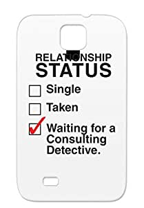 TPU Anti-drop Geek Miscellaneous Thischarmingfan Waiting For A Consulting Detective Benedict Cumberbatch Sherlock Holmes Waiting Consulting Detective Black Sumsang Galaxy S4 Protective Case