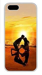 taoyix diy iPhone 5 5S Case The Love Of The Beach PC Custom iPhone 5 5S Case Cover White