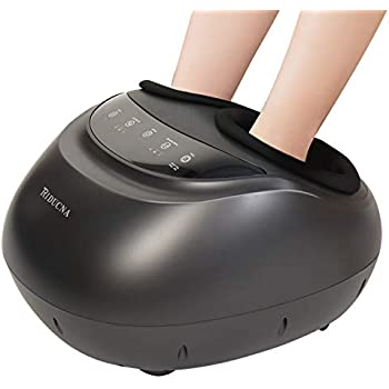 Shiatsu Foot Massager Machine with Heat - Electric Feet Massage with Adjustable Deep Kneading, Rolling, Air Compression for Plantar Fasciitis and Foot Pain Relief - Home & Office Use - Panel Control