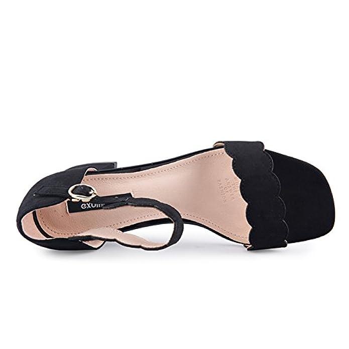 Scarpe E Borse Da Donna Pantofole Estate una Parola Con Le Scarpe signore Grosso Sandali Tacchi