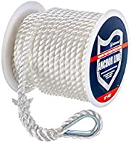 Attwood Nylon Twisted Anchor Line with Thimble