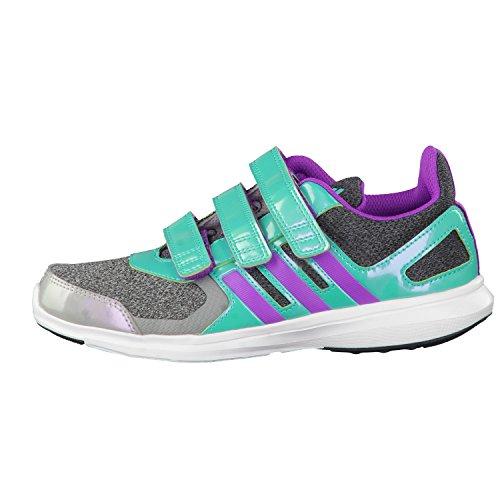adidas Hyperfast 2.0 Cf K, Zapatillas de Deporte para Niños Turquesa / Gris / Morado