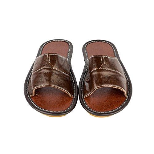 Pantofole Da Uomo In Pelle Di Haisum Comode Scarpe Antiscivolo Da Casa Scivolano Su Pantofole Da Camera Da Caffè