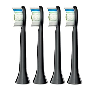 Philips Sonicare Diamond Clean Brush Heads, Black, 4 Count