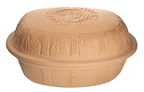 Romertopf Extra Large for Turkey Glazed Clay Roaster, 7.3 quart, Terracotta ()
