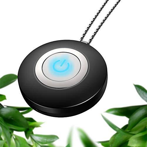 Bili-silly Air Purifier Necklace Mini Wearable Personal Portable Negative Ion Generator for Adults Kids