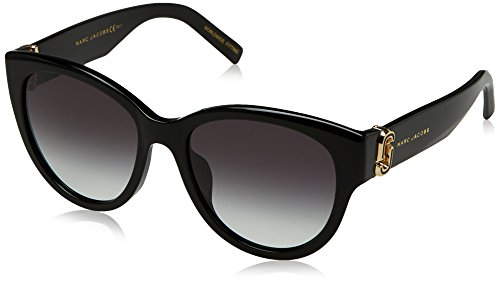 Marc Jacobs Women's Marc181s Oval Sunglasses, BLACK, 54 ()