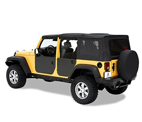 Bestop 51804-01 Black HighRock 4X4 Element Door Enclosure Kit for 2007-2018 Wrangler JK Unlimited - Rear
