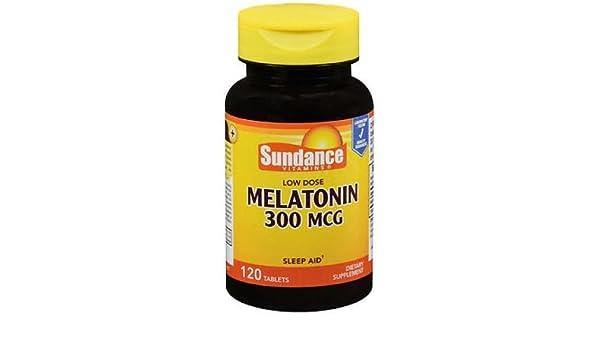 Amazon.com: Sundance Vitamins Low Dose Melatonin 300 mcg - 120 Tablets: Health & Personal Care