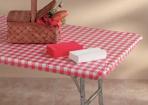 30x96RED/WHT Tablecover by Kwik-Covers