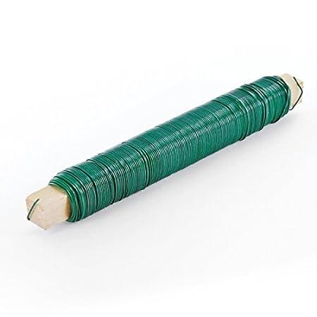 25x hadra Wickeldraht / Bindedraht auf Holzstab - verzinkt - DS: 0,65 mm - a 100 g
