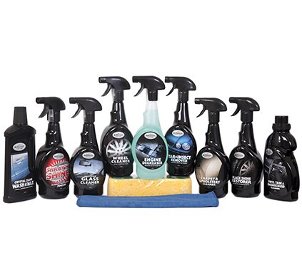 Complete 11 Piece Car Cleaning Valeting Kit Crown Supplies