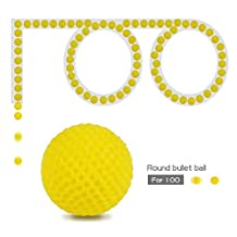 JouerNow 100Pcs Yellow Round Refill Bullet Balls 2.3cm Compatible For Nerf Rival Apollo Zeus Toy Gun Kid Game Play