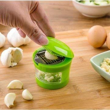 - Public Garlic Press Slicer Kitchen Tools & Gadgets - Multi-Function Garlic Press Slicer Chopper Grater Hand Garlic Grinder Container - Wardrobe Allium Sativum Fourth Estate