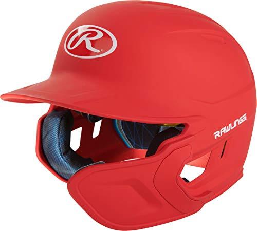 RAWLINGS MACHEXTR-S7-SR 2019 Mach Baseball Batting Helmet, Matte Scarlet