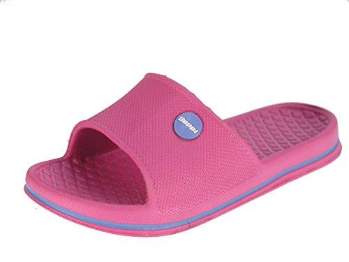 Beppi piscina chancletas zapatillas de playa para niños y adolescentes Fucsia