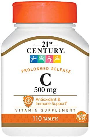 21st Century C 500 mg Orange Chewable Tablets, 110 Count