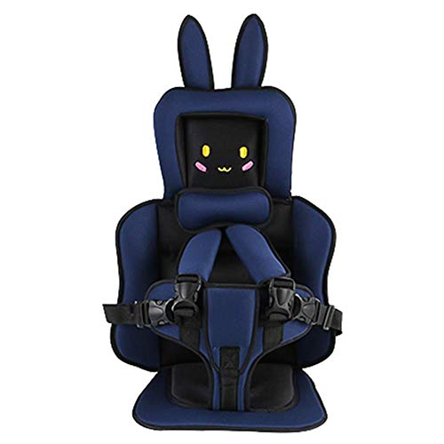AMILIEe Child Baby car seat Protector, 2-in-1 Harness Booster Car Seat, Travel Car Seat, Fix High Back Booster for 9 Month-12 Years Old (Blue, Rabbit)