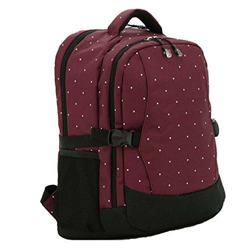 Multifunción Bolsa de gran capacidad momia bebé pañal pañales bolsa mochila bolsa de viaje azul Dark Blue & Black rojo oscuro
