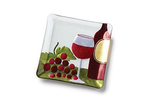 Plate Glass Fusion - DEMDACO Silvestri Glass Fusion Red Wine Plate