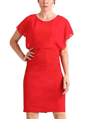APART Fashion Damen Partykleid Glamour: Romantic Red Flower Rot (Rot) RKdYIl7Wq